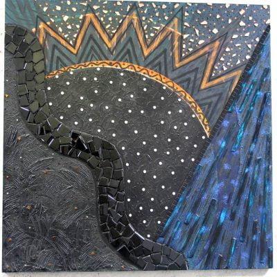 Mars 1994, technique mixte sur toile