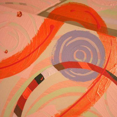 peinture monumentale sur 2 plans,2 octobre 2011, Frédérique Fleury