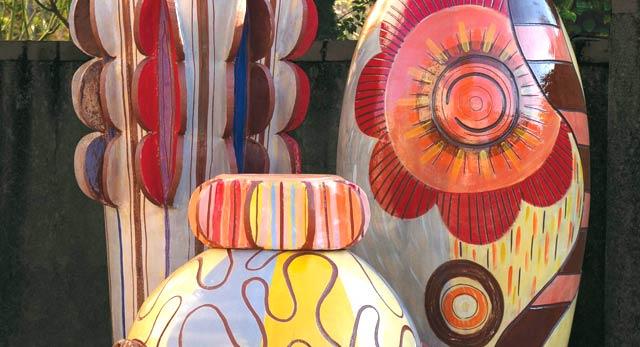 Frédérique Fleury : sculptures monumentales en céramique