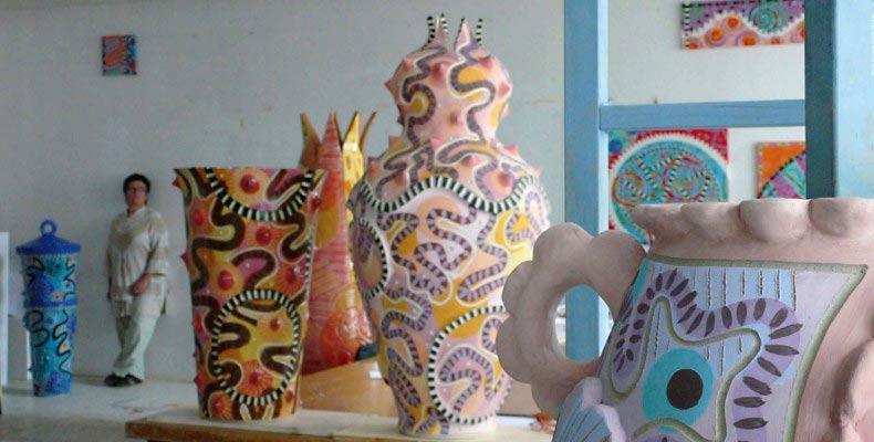 Frédérique Fleury : sculptures céramiques