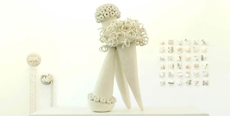 Frédérique Fleury : exposition parures, grès, céramique et textile galerie le116 art