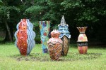 Sculptures monumentales, céramique émaillée, 2005-2008