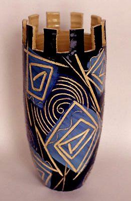 vase créneau bleu, 2001