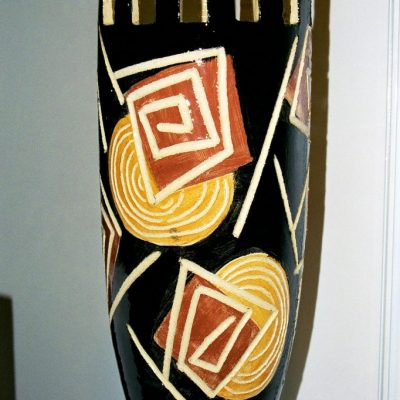 vase noir ceramique, 2001