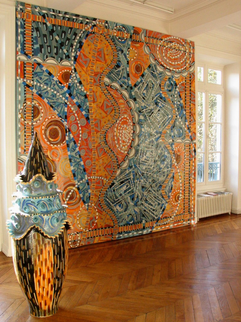 Frédérique Fleury, sculpture textile et céramique : détail