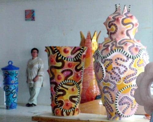 Frédérique Fleury, céramiques, exposition à la galerie le 116art, 2008
