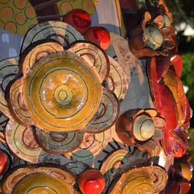 Bucolique 2014, céramique monumentale de Frédérique Fleury